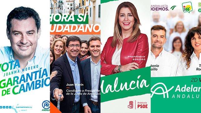 QUÉ TRANSMITEN LOS CARTELES ELECTORALES DE LAS ELECCIONES ANDALUZAS