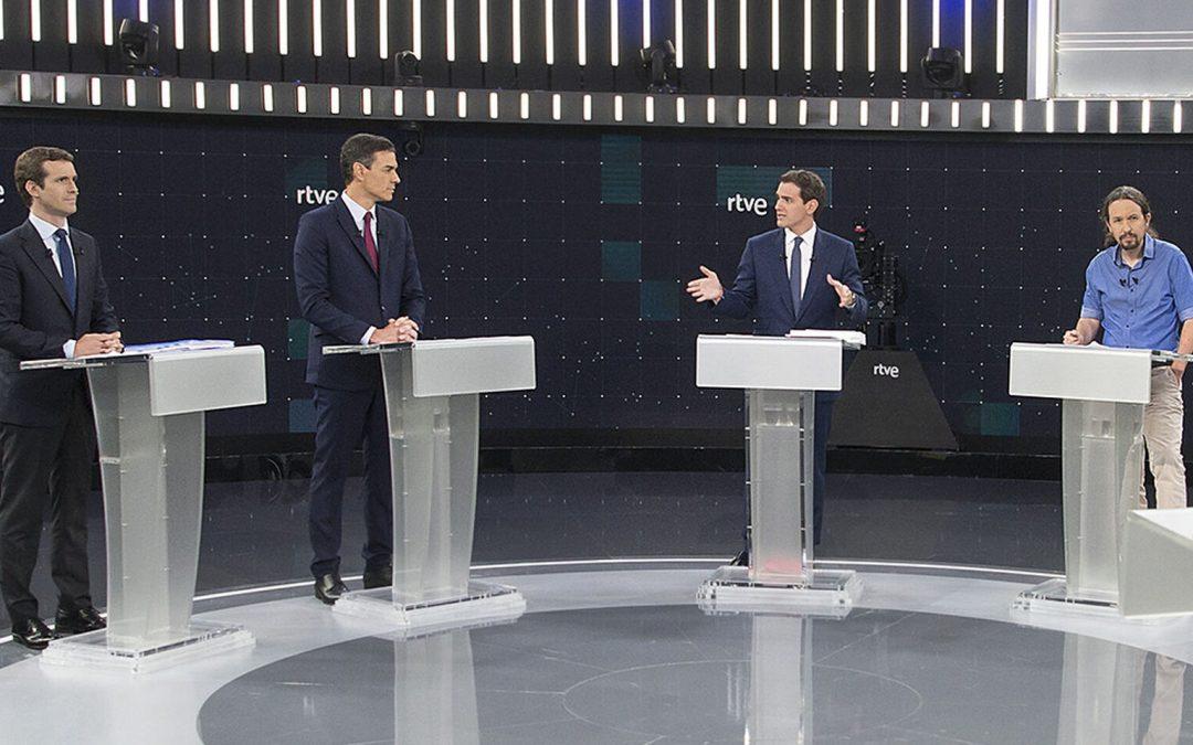Un debate medido y comedido, también en los gestos