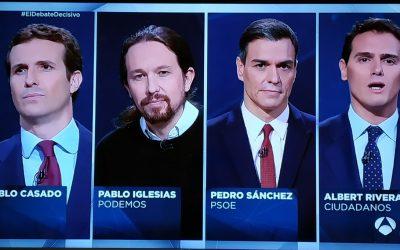 El debate electoral en Atresmedia, en clave no verbal