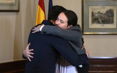El lenguaje no verbal del pacto entre Sánchez e Iglesias